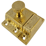Fancy Brass Cabinet or Cupboard Latch