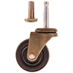 Rubber Wheel Antique Brass Caster