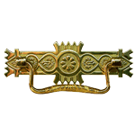 Brass Victorian Eastlake Drawer Pull