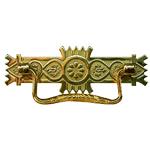Brass Victorian Eastlake Drawer Pull