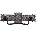Nickel Victorian Eastlake Drawer Pull