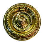 Round Colonial Revival Brass Ring Pull