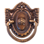 Shield Colonial Revival Antiqued Brass Pull