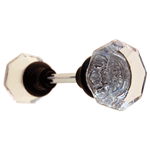 Octagonal Glass Door Knob In Oil Rubbed Bronze With Spindle