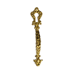 Fancy Brass China Cabinet Door Pull with Keyhole