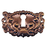 Antiqued Brass Keyhole Escutcheon
