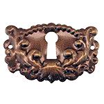 Antiqued Brass Keyhole Escutcheon