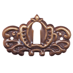 Ornate Antiqued Stamped Brass Keyhole Cover