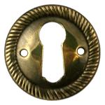 Aged Brass Keyhole Escutcheon