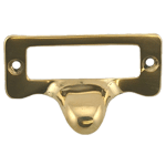Small Solid Brass File Card Frame with Pull