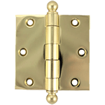 "3"" Heavy Duty Plated Steel Door Or Window Hinge With Ball Tips"