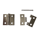 Nickel Removable Pin Butt Hinge Pair