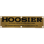 Hoosier Saves Steps Brass Label