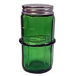 Green Colonial Pattern Hoosier Spice Jar