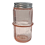 Pink Colonial Pattern Hoosier Spice Jar