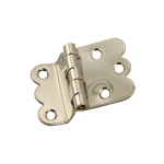 Napanee Offset Nickel Cabinet Hinge Pair