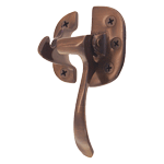 Antiqued Right Cast Brass Ice Box Lever Latch