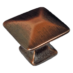 Antique Copper Finish Mission Pyramid Knob