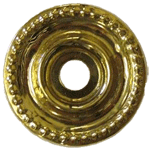 Large Beaded Backplate Brass Washer
