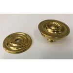 Large Sheraton Style Brass Knob