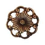Antique Finish Cast Brass Furniture Knob