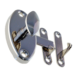 Nickel Oval Hoosier Cabinet Latch