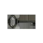 Weathered Pewter Skeleton Key
