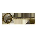 Huge Solid Brass Bit and Barrel Skeleton Key