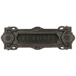 Vintage Cast Iron Mail Letter Slot