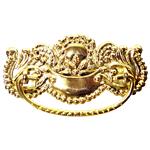 Victorian Oak Stamped Brass Drawer Pull