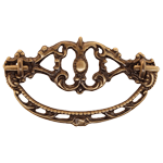 Elegant Antiqued Brass Drawer Bail Pull