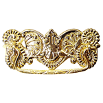 Fancy Stamped Victorian Brass Drawer Pull
