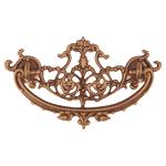 Decorative Cast Antiqued Brass Victorian Drawer Pull