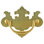 Small Chippendale Brass Drawer Pull
