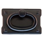 Small Oil Rubbed Bronze Mission Drawer Pull