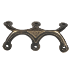 Hand Aged Cast Brass Triple Leg Trunk Edge Clamp