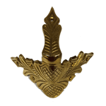 Cast Brass Camel-back Trunk Corner