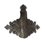 Hand Aged Cast Brass Camel-back Trunk Corner