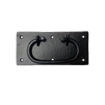Large Black Steel Trunk Handle