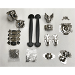 Nickel Woodsmith Trunk Hardware Kit