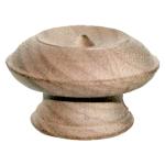 Detailed Turned Walnut Knob