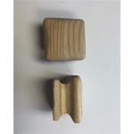 Arts and Crafts Square Wood Knob
