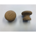 Arts and Crafts Round Oak Knob