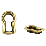 Stamped Brass Decorative Keyhole Insert