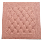 Small Square Quilted Fiberboard Chair Seat Seconds