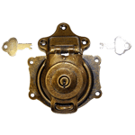 Short Antique Brass Trunk Lock