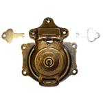 Short Antique Brass Trunk Lock