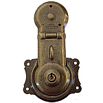 Long Antique Brass Trunk Lock