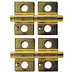 Brass Mirror Support Set