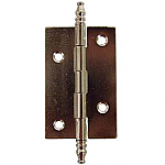 Nickel Plated Butt Hinge Pair with Finials